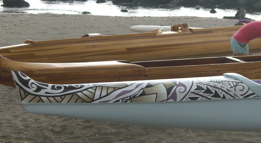 Bow? of Waikoloa Canoe Club Wrap by Tsunami Wraps