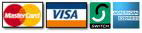 Master Card, Amex, Discover, Paypal, UPS accepted